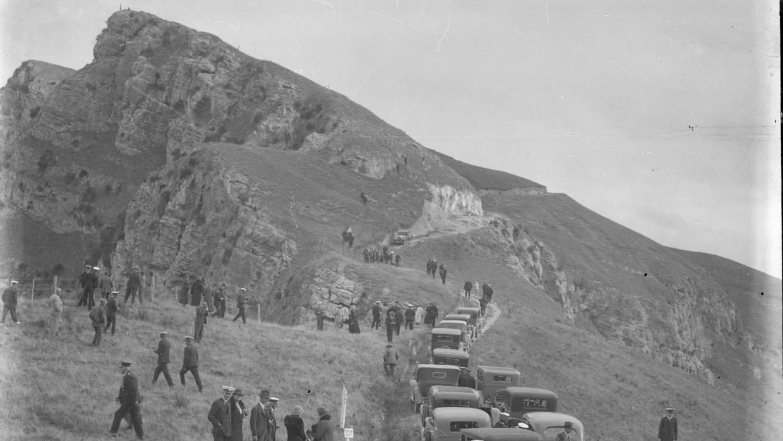 Old Photograph Te Mata Peak road